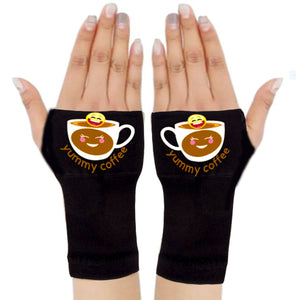 Arthritis  Gloves - Carpal Tunnel Treatment - Wrist Support - Hand Brace - Yummy  Coffee Emoji
