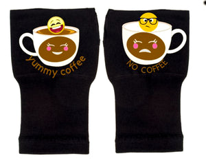 Gloves Arthritis  Hands - Arthritis Compression Gloves - Fingerless Compression Gloves - No & Yummy Coffee Emoji