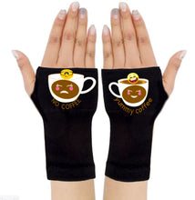 Load image into Gallery viewer, Arthritis  Gloves - Carpal Tunnel Treatment - Wrist Support - Hand Brace - No & Yummy Coffee Emoji