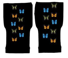 Load image into Gallery viewer, Fingerless Gloves Women Arthritis Gloves - Carpal Tunnel Gloves - Crafters Gloves  Compression Gloves - All the Butterflies