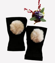 Load image into Gallery viewer, Arthritis  Gloves - Carpal Tunnel Treatment - Wrist Support - Hand Brace - Fur Ball Blond