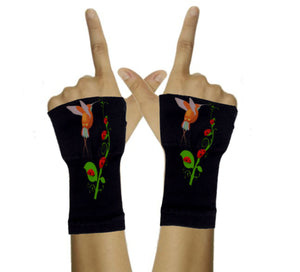 Arthritis  Gloves - Carpal Tunnel Treatment - Wrist Support - Hand Brace - HummingBird & LadyBug