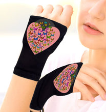 Load image into Gallery viewer, Arthritis  Gloves - Carpal Tunnel Treatment - Wrist Support - Hand Brace - Hearts of Butterflies