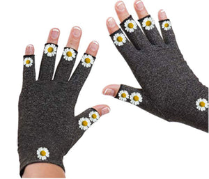 Fingerless Gloves for Arthritis - Arthritis Gloves with Compression - Wrist Wrap - Chamomille