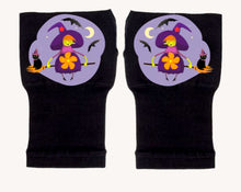 Load image into Gallery viewer, Halloween Arthritis  Gloves -  Wrist Support Carpal Tunnel Relief - Purple Witch
