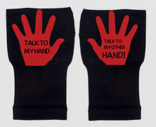 Load image into Gallery viewer, Gloves Arthritis  Hands - Arthritis Compression Gloves - Fingerless Compression Gloves- Talk To My Hand Red