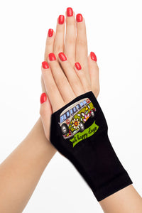 Fingerless Gloves & Wrist Support  Arthritis -  Carpal Tunnel Treatment - Happy Days Green