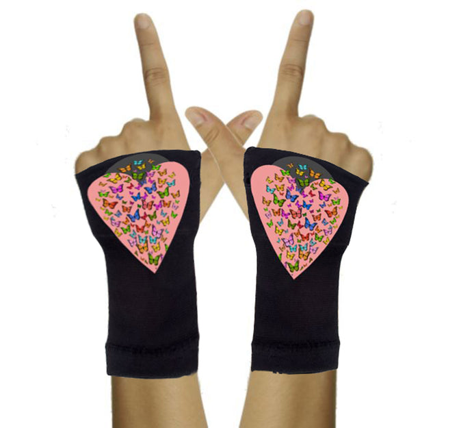 Gloves Arthritis  Hands - Arthritis Compression Gloves - Fingerless Compression Gloves- Hearts of Butterflies