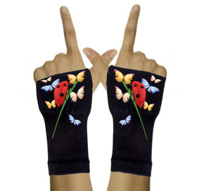 Arthritis  Gloves - Carpal Tunnel Treatment - Wrist Support - Hand Brace - Ladybug & Friends