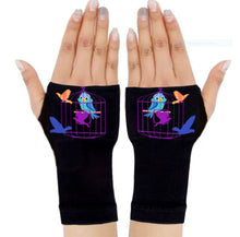 Load image into Gallery viewer, Gloves Arthritis  Hands - Arthritis Compression Gloves - Blue Robbin Cage