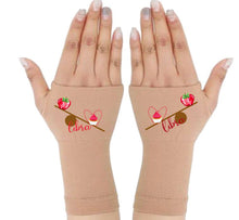 Load image into Gallery viewer, Libra Zodiac Fingerless Gloves - Compression Gloves -Gloves Womens - Arthritis Gloves -  Carpal Tunnel Gloves - Wrist Warmer