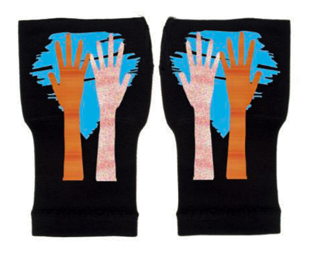 Gloves Arthritis  Hands - Arthritis Compression Gloves - Fingerless Compression Gloves  - My Hands Blue
