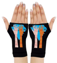 Load image into Gallery viewer, Gloves Arthritis  Hands - Arthritis Compression Gloves - Fingerless Compression Gloves  - My Hands Blue