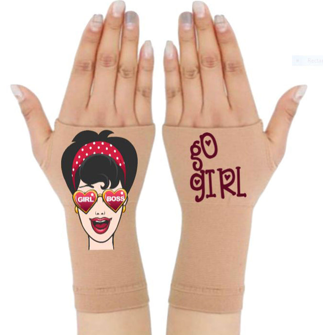 Arthritis  Gloves - Carpal Tunnel Treatment - Wrist Support - Hand Brace - Girl Boss