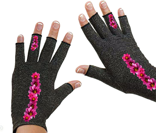 Fingerless Gloves for Arthritis - Arthritis Gloves with Compression - Clusters