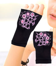 Load image into Gallery viewer, Gloves Arthritis  Hands - Arthritis Compression Gloves - Fingerless Compression Gloves - Purple Unicorn