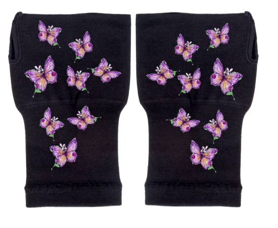 Gloves Arthritis  Hands - Arthritis Compression Gloves - Fingerless Compression Gloves - Dainty Purple