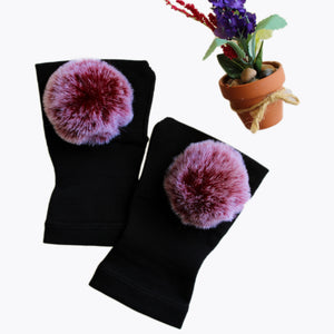Arthritis  Gloves - Carpal Tunnel Treatment - Wrist Support - Hand Brace - Fur Ball Burgundy
