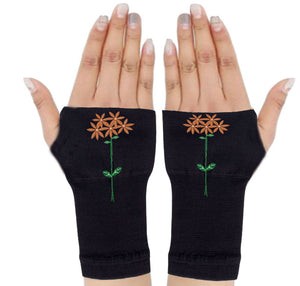 Fingerless Gloves - Arhritis Gloves -  Fingerless Mittens- Wrist Warmer- Gloves Women - Colorful Fingerless Gloves - Stardust