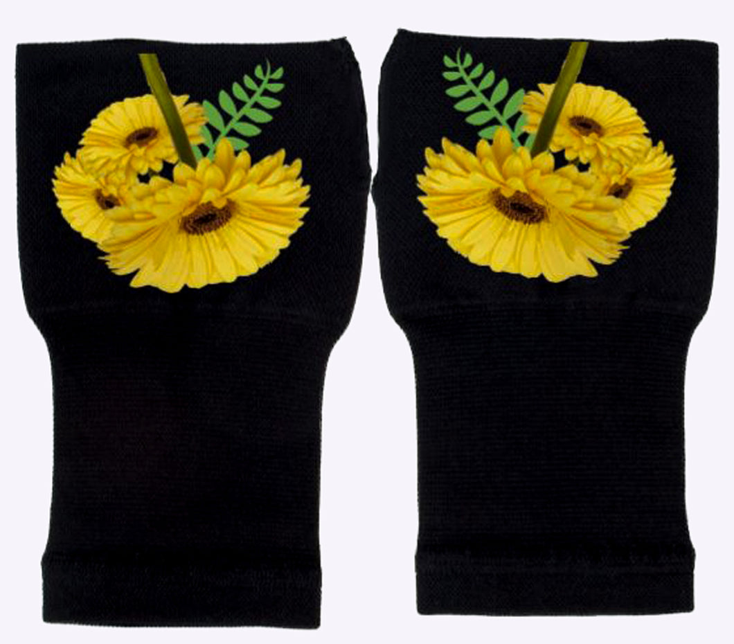 Arthritis  Gloves - Carpal Tunnel Treatment - Wrist Support - Hand Brace - Sunny Sunflowers