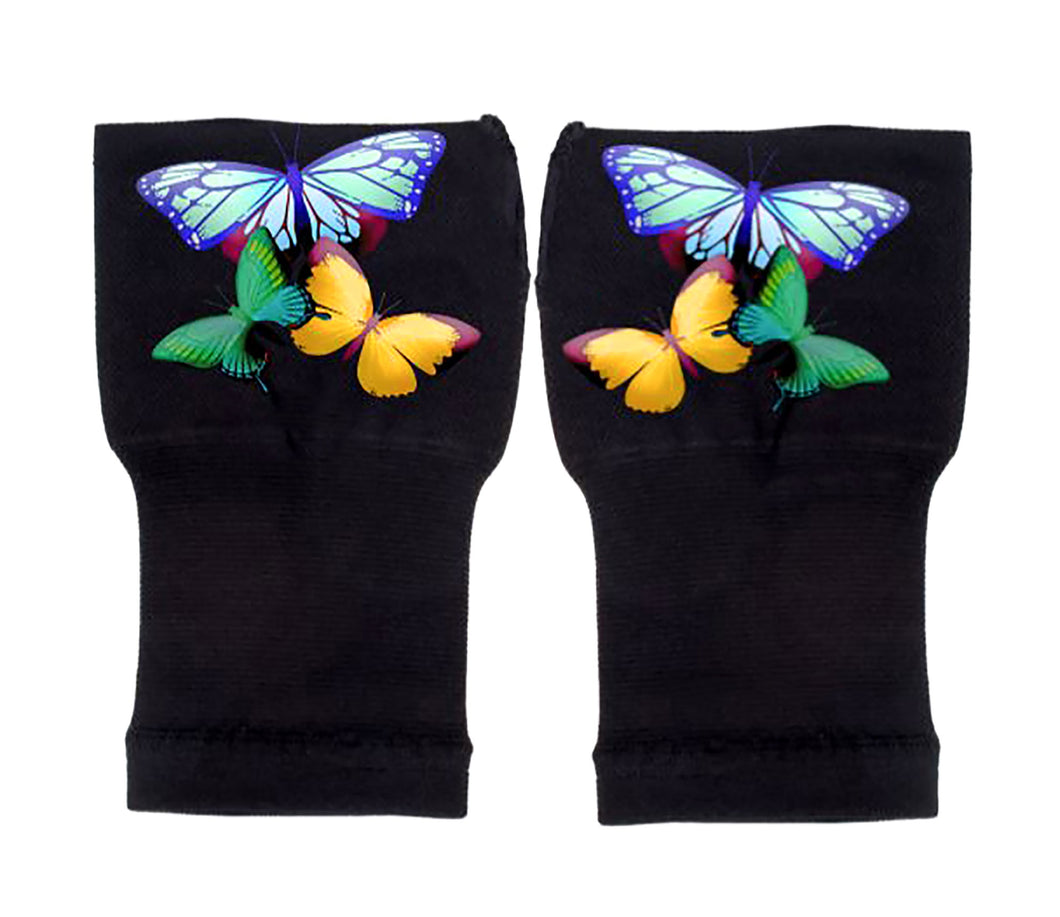 Gloves Arthritis  Hands - Arthritis Compression Gloves - Fingerless Compression Gloves  - Three Butterflies