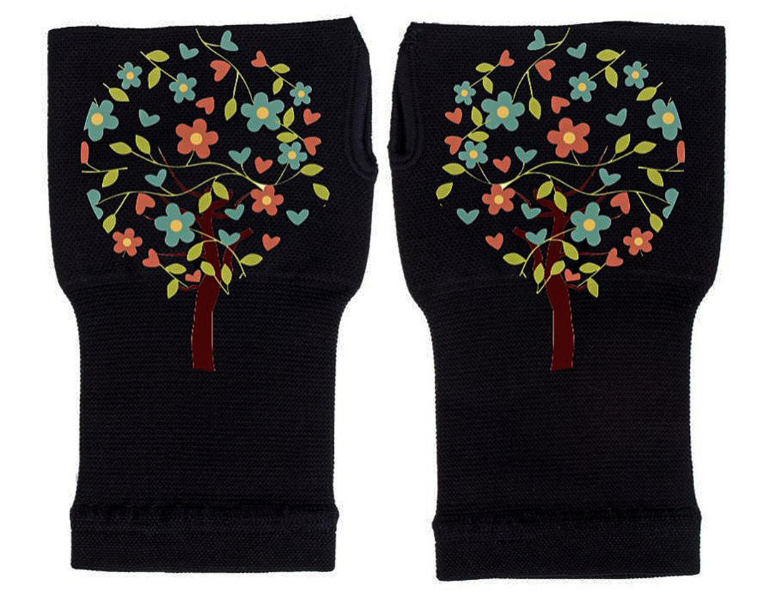 Fingerless Gloves - Arhritis Gloves -  Fingerless Mittens- Wrist Warmer- Gloves Women - Tree of Life