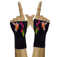 Load image into Gallery viewer, Gloves Arthritis  Hands - Arthritis Compression Gloves - Fingerless Compression Gloves - Hummingbird Tulip