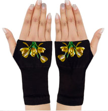 Load image into Gallery viewer, Arthritis  Gloves - Carpal Tunnel Treatment - Wrist Support - Hand Brace - Yellow Tulips