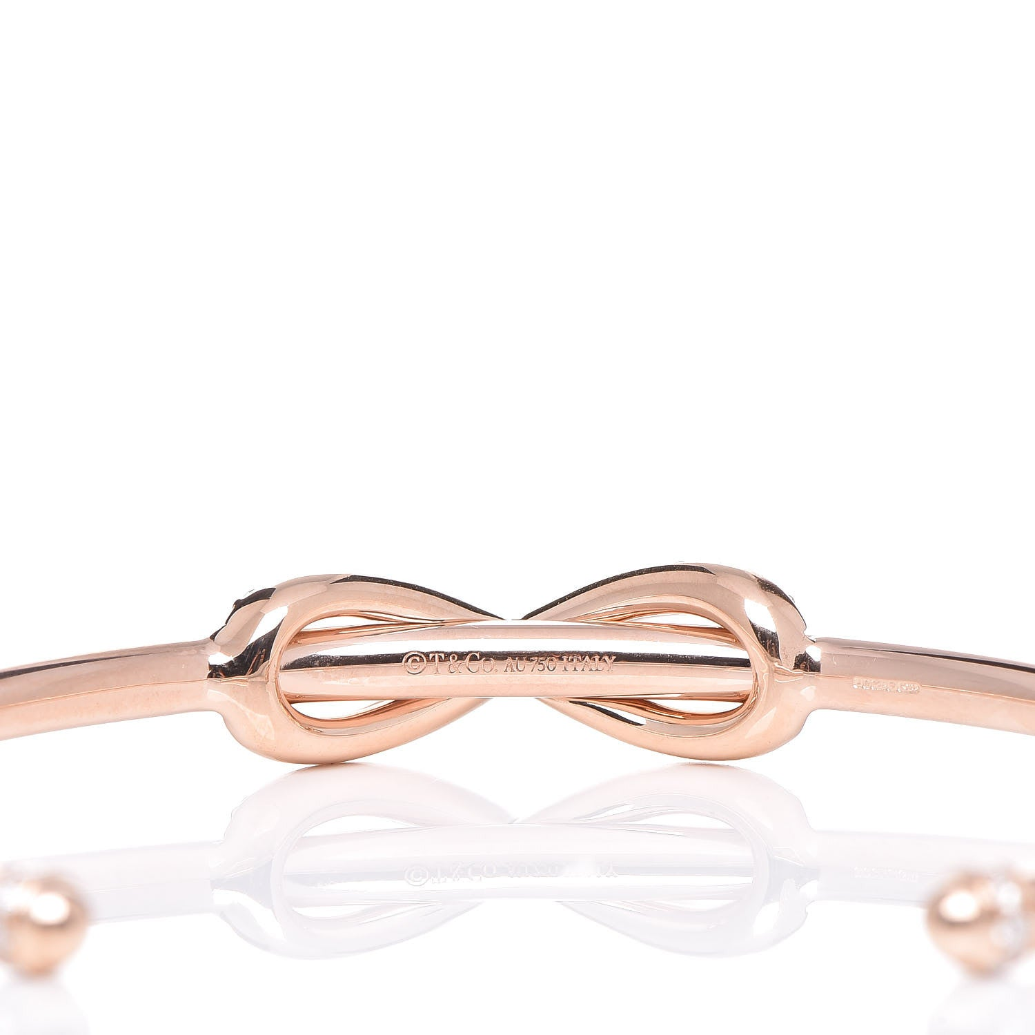 d3b932de8 ... Load image into Gallery viewer, Tiffany 18K Rose Gold Diamond Infinity  Cuff ...