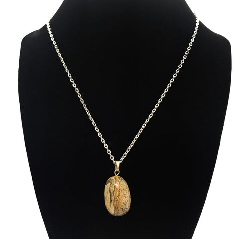 Tumble Picture Jasper Necklace