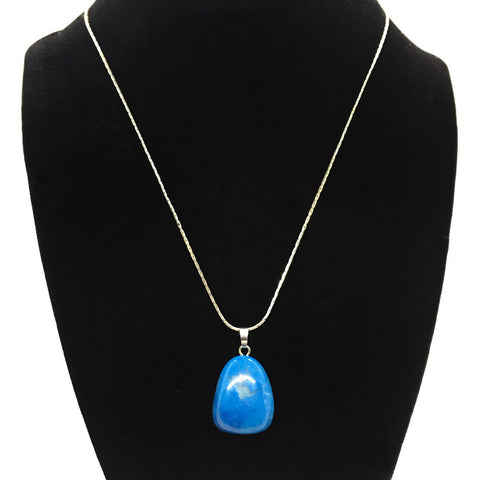 Tumble Blue Howlite Necklace