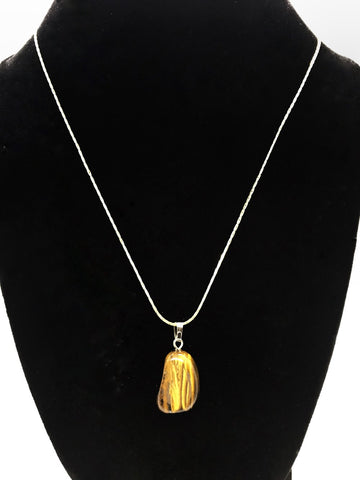 Tumble Tiger Eye Necklace