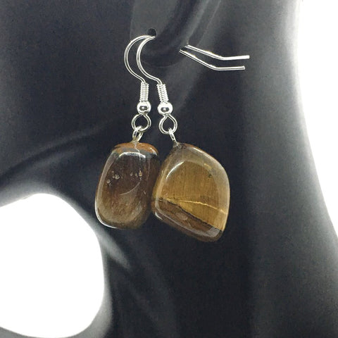 Tumble Tiger Eye Earrings