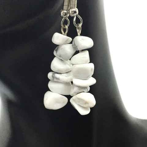 Howlite Chip Earrings