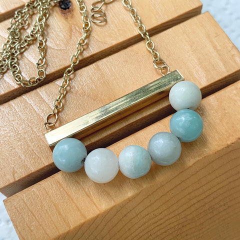 Amazonite Bar Necklace