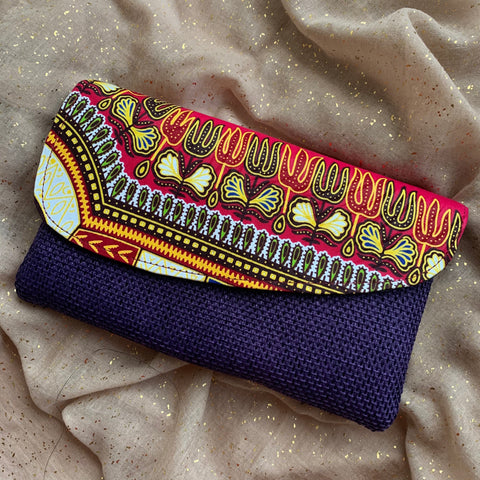 Purple Kitenge Purse