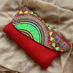 Red Kitenge Purse