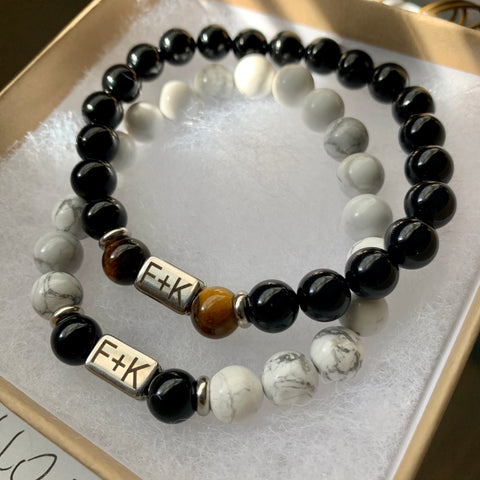 Custom Engraved Bracelet Set