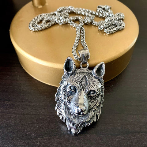 Gray Wolf Necklace