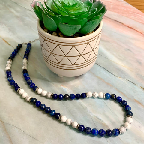 Lapis Howlite Necklace