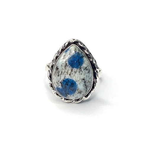Granite Azurite Ring
