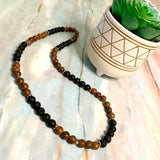 Wooden Earth Necklace