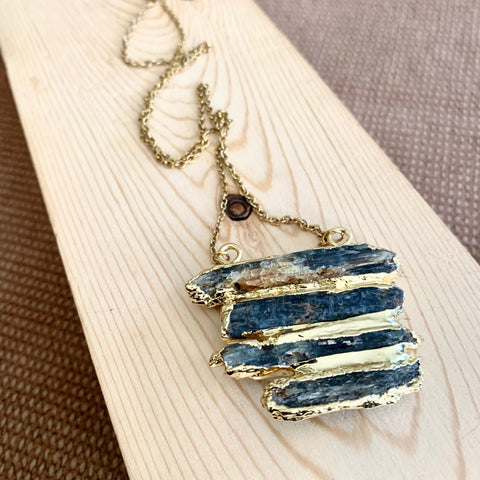Tiered Kyanite Necklace