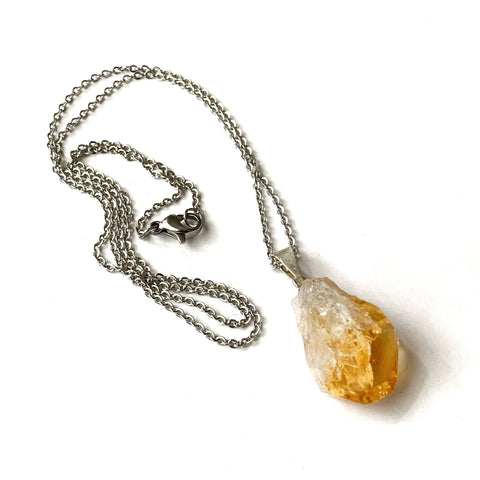Rough Citrine Necklace