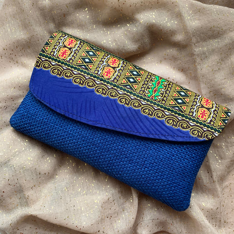 Blue Kitenge Purse
