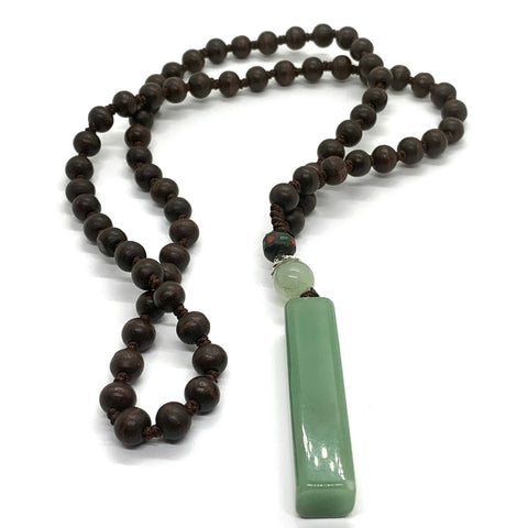 Jade Wood Necklace