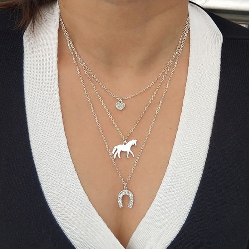 Three Layer Horse Lover Necklace (Buy 1 Get 1 Free)