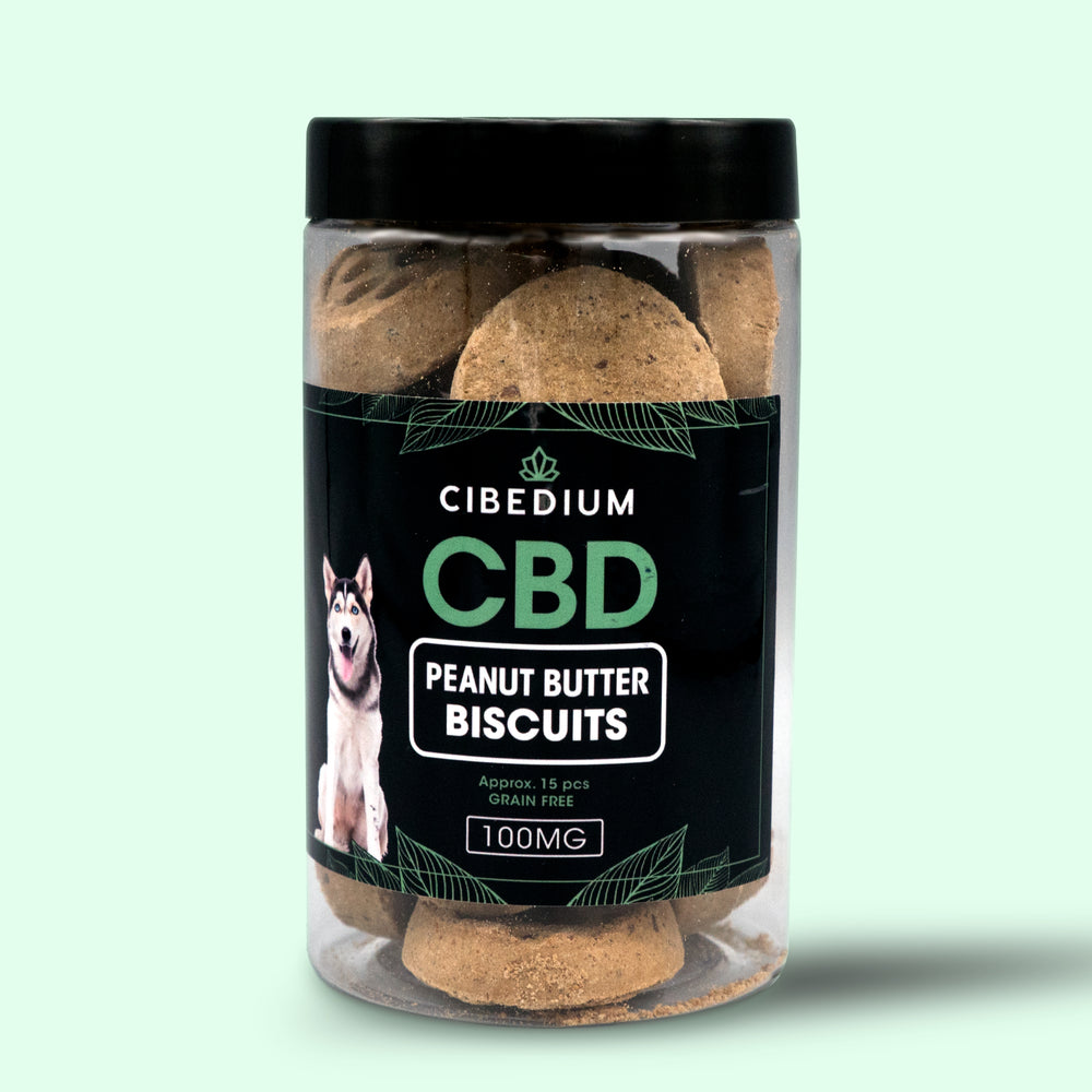 CBD Peanut Butter Dog Biscuits Grain Free, Approx. 15 pcs