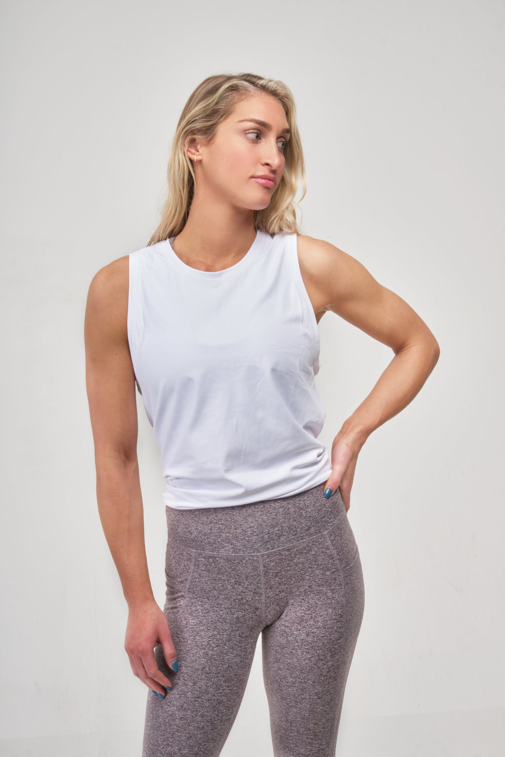 White Tidal Flow Tank Top