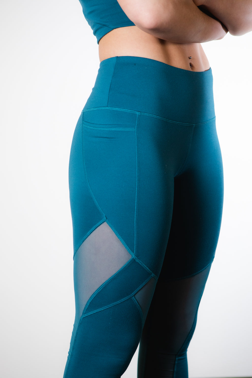 Pacific Blue High-Rise Mesh Legging